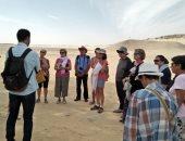 صور.. وفود سياحية من 3 دول تزور المناطق الأثرية بالمنيا
