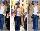 صور.. هارى ستايلز يرتدى معطفا من تصميم Gucci سعره 2200 جنيه استرليني