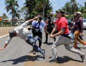 مؤيدو رئيس فنزويلا ومعارضية وجها لوجه فى البرازيل