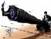 كاريكاتير الصحف السعودية.. إيران تطلق صواريخ الطائفية على المنطقة العربية