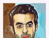 قارئة تشارك بصورة رسمتها للفنان الراحل هيثم أحمد زكى