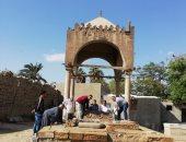الآثار تعد تقريرا مفصلا بعد هبوط قبر حاكم جرجا بالإمام الشافعى