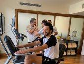 تدريبات استشفائية للاعبى المنتخب الأولمبى بعد صلاة الجمعة.. صور