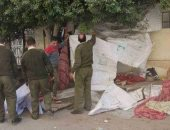 إزالة خيمة لترويج المخدرات بجوار سور مستشفى المنصورة الدولى