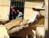 سقوط أجزاء من بلكونة منزل بالمنشية وسط الإسكندرية