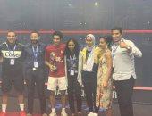 بعثة الاسكواش تعود اليوم إلى القاهرة بعد حصد بطولة العالم