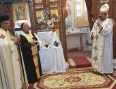 صور.. ثلاثة مطارنة يصلون القداس الختامى بعيد القديس مارجرجس بالشورانية