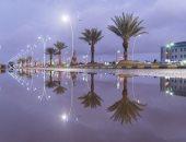 أمطار على محافظة الطائف بالسعودية