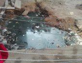 سكان شارع على مصلح بالمرج يشكون تراكم المياه وتهديد منازلهم بالسقوط