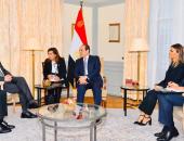 الرئيس السيسى يستقبل نائب رئيس شركة مرسيدس بنز بمقر إقامته فى ألمانيا