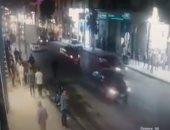 فيديو.. كاميرات المراقبة ترصد حادث دهس المواطنين فى شارع طلعت حرب