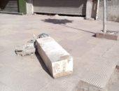 قارئة تحذر من وجود صندوق كهرباء مهمل يشكل خطورة على المارة بالإسكندرية