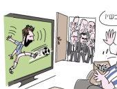 كاريكاتير إسرائيلى.. ميسي يخطف الأضواء من مشاورات تشكيل الحكومة