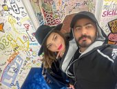 تامر حسني يعلن تصالحه مع زوجته بسمة بوسيل: ميرضنيش زعلك إنتى حبيبتى وأم ولادى