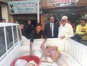 إعدام مواد غذائية غير صالحة قبل طرحها بالأسواق بالمنصورة