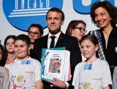 ماكرون يشارك فى احتفالية باليونيسيف بمناسبة يوم الطفل العالمى