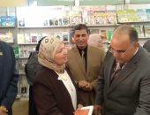 افتتاح معرض للكتاب فى كلية البنات جامعة الأزهر  (صور)