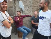 """حسام على يصور مشاهد أكشن بمسلسل """"شديد الخطورة"""" بقصر طوسون"""