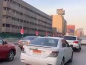 فيديو.. زحام مرورى أعلى كوبرى 6 أكتوبر بسبب زيادة الأحمال