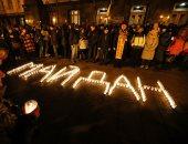 الأوكرانيون يحيون الذكرى السادسة لمظاهرات ميدان الاستقلال