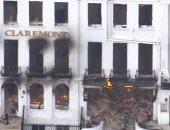 حريق هائل يلتهم فندق كليرمونت الشهير فى بريطانيا.. فيديو