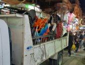 حملة مسائية مكبرة لإزالة الإشغالات والتعديات وسط الإسكندرية