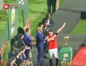 شاهد بعيون سوبر كورة إحراج رمضان صبحى أثناء استلام كأس أفضل لاعب