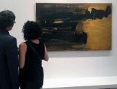 عرض لوحة الرسام الفرنسى بيار سولاج فى اللوفر قبل بيعها فى المزاد