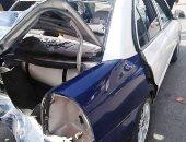 مصرع قائد سيارة ملاكى وإصابة زوجته فى حادث مرورى بالبدرشين