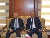 رئيس النيابة الإدارية يستقبل رئيس مجلس القضاء الأعلى بمقر الهيئة