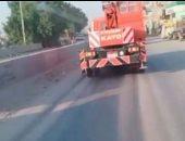 قارئ يشكو تهالك طريق القاهرة أسوان ما بين العياط والحوامدية