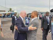 منافس الزمالك.. انفانتينو يصل الكونغو لحضور احتفالات تأسيس مازيمبى
