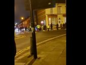 """ليفربول ضد نابولي.. كر وفر بين الشرطة الإنجليزية وجماهير السماوي """"فيديو"""""""