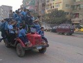 قارئ يشارك بصورة لسيارة تقل العشرات من أطفال المدارس فى الشارع الجديد ببهتيم