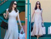 أنجلينا جولى تطل بفستان ماكسى بيج من جابريلا هيرست.. صور