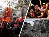 صور.. العالم هذا الصباح.. الكولومبيون يواصلون احتجاجاتهم على مقتل طالب لليوم السابع.. احتفالات الأمريكيين بعيد الشكر فى شوارع نيويورك.. استمرار عمليات البحث والإنقاذ فى ألبانيا بعد زلزال مدمر بقوة 6.4 درجة