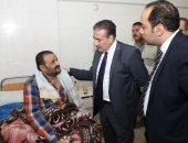 محافظ المنوفية ونائبه يتفقدان مستشفى شبين الكوم التعليمى