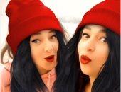 """دنيا وإيمى سمير غانم تحتفلان بفلاتر """"عيد الميلاد"""" على أغنية """"ملطشة القلوب"""".. فيديو"""