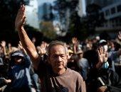 صور.. أرباب معاشات وطلبة مدارس ينظمون احتجاجا فى هونج كونج