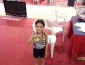 قارئ يشارك فرحته بفوز ابنه بالميدالية الذهبية فى بطولة الجمهورية للجمباز