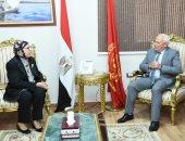 محافظ بورسعيد يستقبل رئيس فرع هيئة قضايا الدولة ويتابع مشروعات الصرف