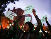 مئات النساء يشاركن فى الإضراب الوطنى بكولومبيا ضد الرئيس دوكى