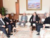 محافظ بورسعيد يستقبل اللواء هشام خطاب مدير الأمن