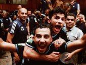 صور.. فرحة لاعبى بيراميدز فى غرف الملابس بعد الفوز بثلاثية على رينجرز النيجيرى