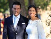 لاعب التنس الأسبانى روبرت أجوت يحتفل بزفافه على ملكة جمال أسبانيا السابقة
