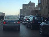 فيديو.. كثافات مرورية أعلى محور صفط اتجاه جامعة القاهرة