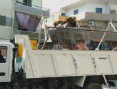 إزالة إشغالات باعة متجولين ومحلات تجارية فى حملة لشرطة المرافق بالجيزة