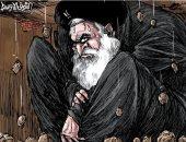 كاريكاتير الصحف السعودية.. ضيق الشرق الأوسط على حسن روحانى