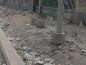 شكوى من إتلاف رصف بشارع ترعة الإسماعيلية على جانب مطلع الكوبرى بشبرا الخيمة