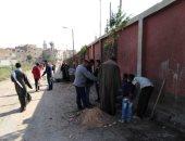 صور.. غرس 45 شجرة وصيانة أعمدة الإنارة ونظافة شوارع وأحياء بالمنيا